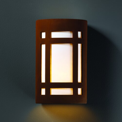 Justice Design Group Ambiance Craftsman 1 Light Outdoor Wall Sconce