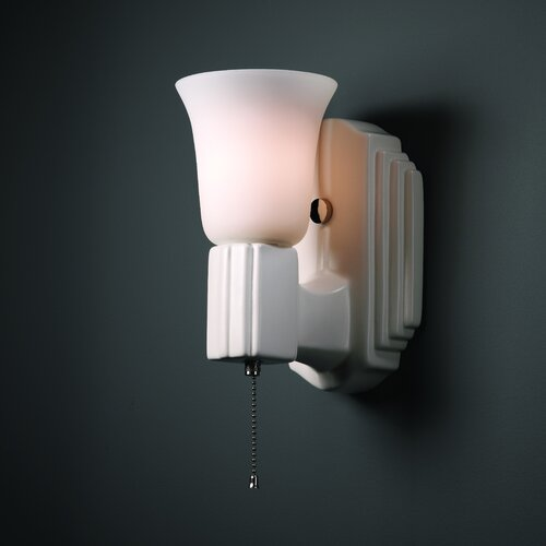 Justice Design Group American Classics Deco 1 Light Wall Sconce