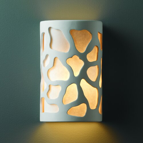 Justice Design Group Ambiance Cobblestones 1 Light Outdoor Wall Sconce