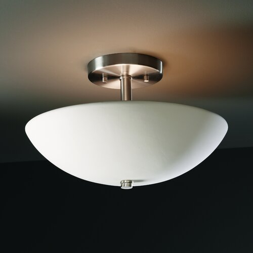 Justice Design Group Radiance Round Bowl Semi Flush Mount
