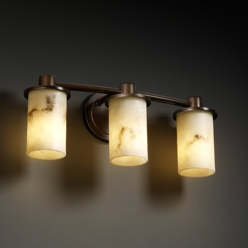 Justice Design Group LumenAria Rondo 3 Light Bath Vanity Light