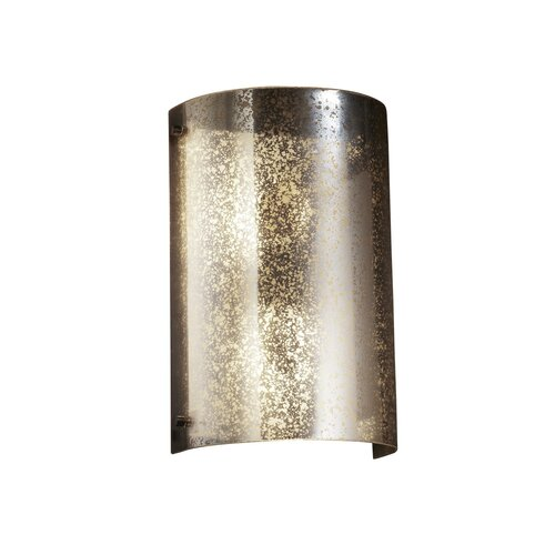 Justice Design Group Fusion Finials Curved 2 Light Wall Sconce