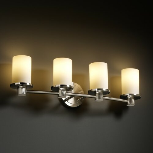 Justice Design Group Fusion Rondo 4 Light Bath Vanity Light