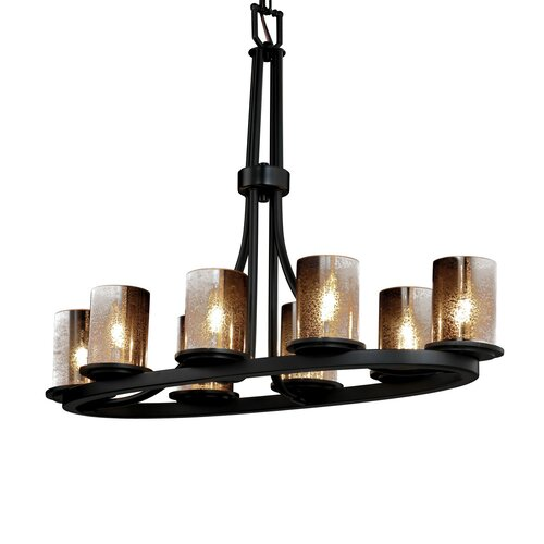 Fusion Dakota 8 Light Oval Ring Chandelier