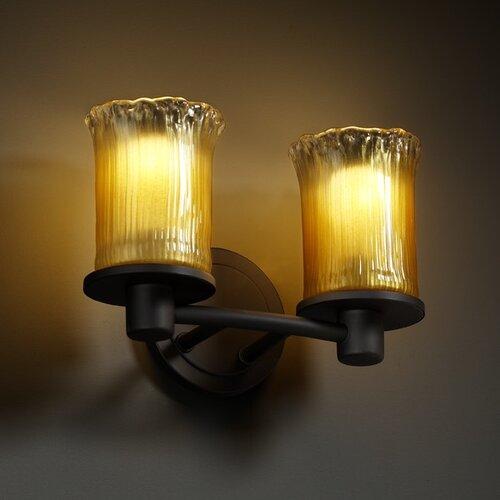 Justice Design Group Veneto Luce Rondo 2 Light Bath Vanity Light