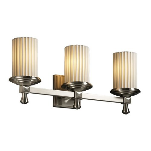 Justice Design Group Limoges Deco 3 Light Bath Vanity Light