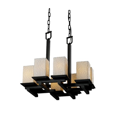 Justice Design Group Limoges Montana 8 Light Chandelier