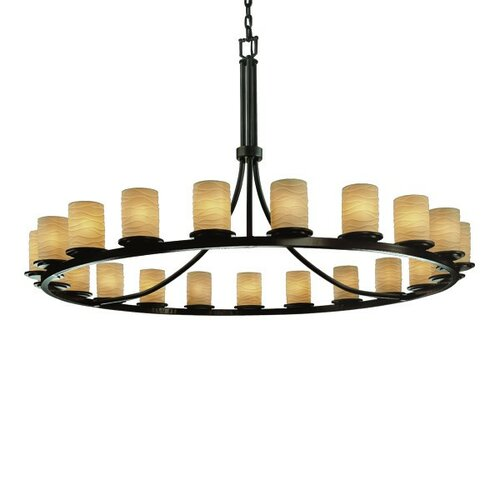 Limoges Dakota 21 Light Chandelier with Additional Chain