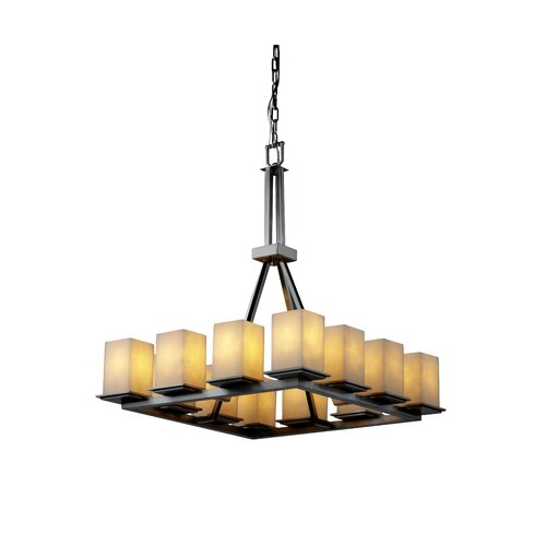 Justice Design Group Clouds Montana 12 Light Chandelier with Additional Chain