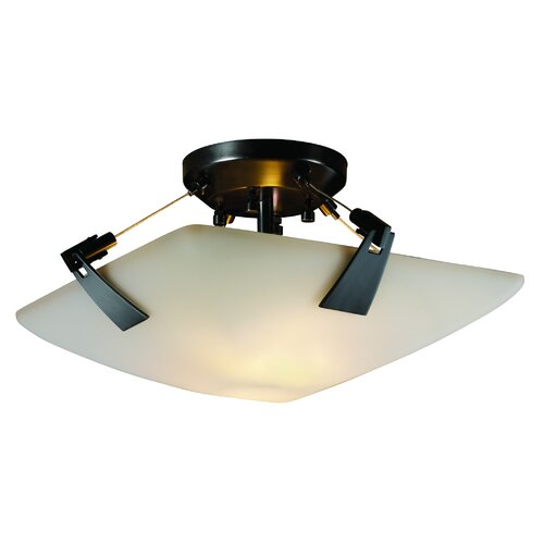 Fusion Three Light Semi Flush Bowl