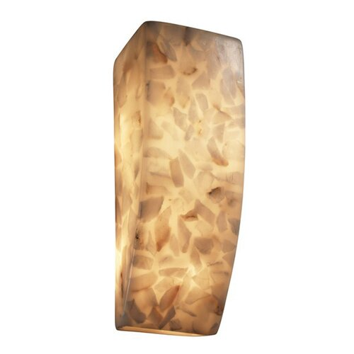 Justice Design Group Alabaster Rocks 1 Light Wall Sconce