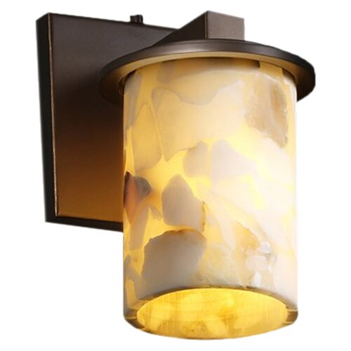 Justice Design Group Alabaster Rocks Dakota 1 Light Wall Sconce