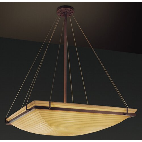 Justice Design Group Porcelina 8 Light Inverted Pendant