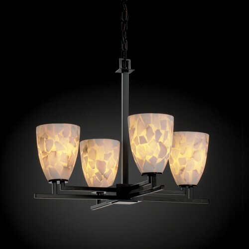 Aero Alabaster Rocks 4 Light Chandelier