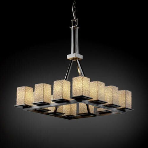 Justice Design Group Limoges Montana 12 Light Chandelier with Additional Chain