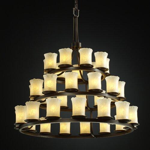 Veneto Luce Dakota 36 Light Chandelier with Additional Chain