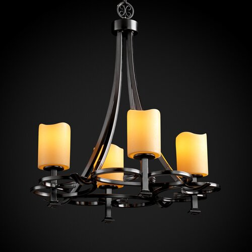 Justice Design Group CandleAria Arcadia 4 Uplight Chandelier