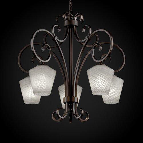 Fusion Victoria 5 Light Downlight Chandelier