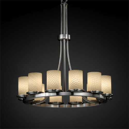 Dakota Fusion 12 Light Tall Chandelier