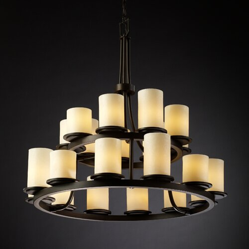 Justice Design Group CandleAria Dakota 21 Light Chandelier