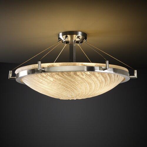 Justice Design Group Veneto Luce Ring 6 Light Semi Flush Mount