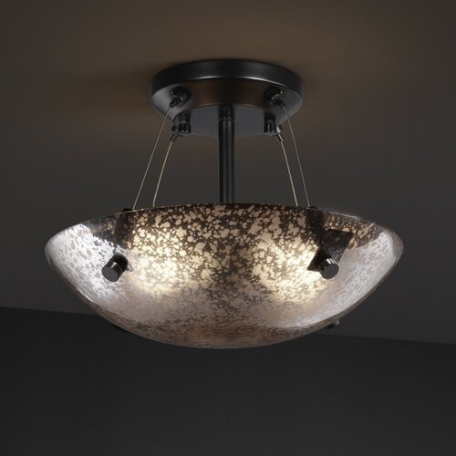 Fusion Semi Flush Bowl with Finials