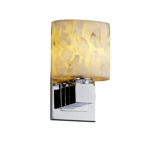 Justice Design Group Alabaster Rocks Aero 1 Light ADA Wall Sconce
