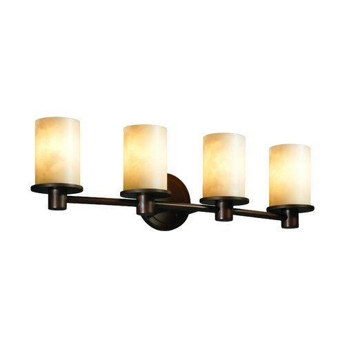 Justice Design Group Clouds Rondo 4 Light Bath Vanity Light