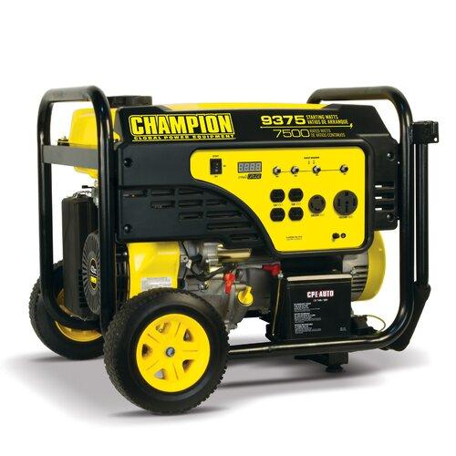 Electric Start Portable 9,375 Watt Gasoline Generator