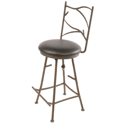 "Stone County Ironworks Pine 25"" Swivel Bar Stool"