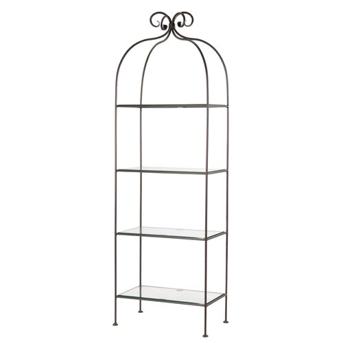 Stone County Ironworks Scroll 4-Tier Double Width Standing Shelf