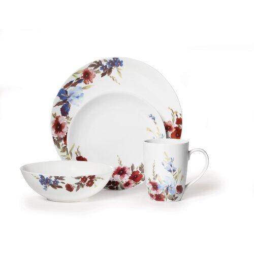 Gourmet Basics Flower Garden 16 Piece Dinnerware Set