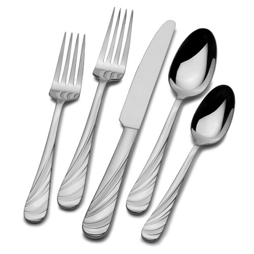 20 Piece Swirl Flatware Set