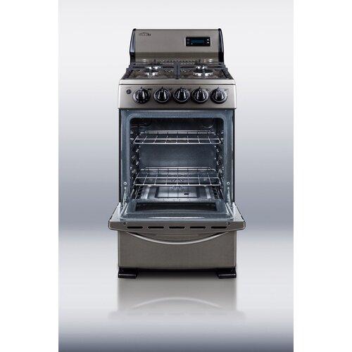 Summit Appliance 2.62 cu. Ft. Gas Free-Standing Range