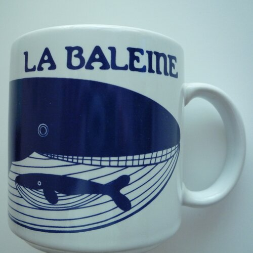 Taylor & Ng Vintage French 11 oz. Le Baleine (Whale) Mug