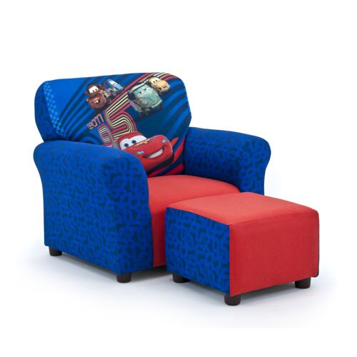 Disney's Cars 2 Kid's Club Chair and Ottoman Set