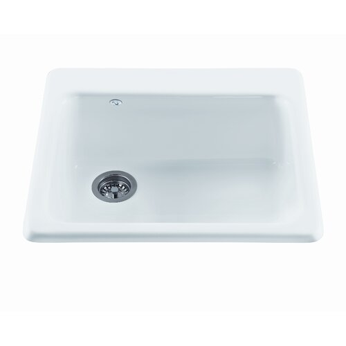"Reliance Whirlpools Reliance 25"" x 22.25"" Simplicity Single Bowl Kitchen Sink"