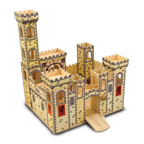Melissa And Doug Folding Medieval Castle Amp Reviews Wayfair