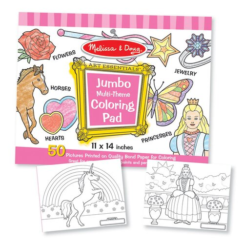 Melissa and Doug Jumbo Coloring Pad in Pink