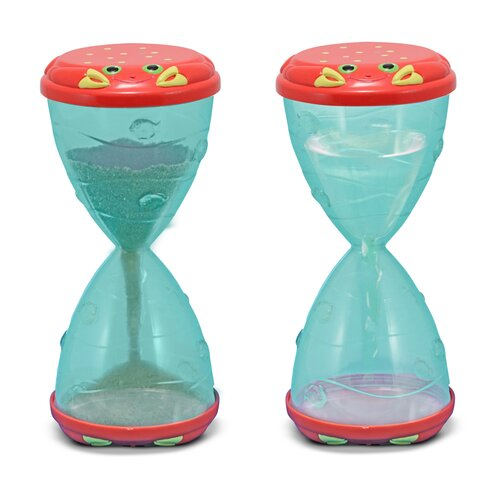 Melissa and Doug Clicker Crab Hourglass Sifter and Funnel