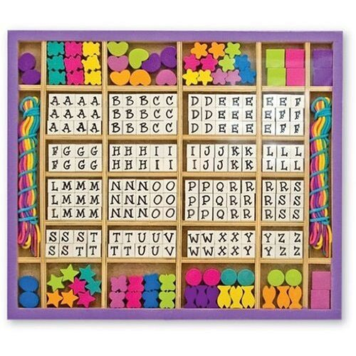 Melissa and Doug Wood Stringing Bead Craft Set