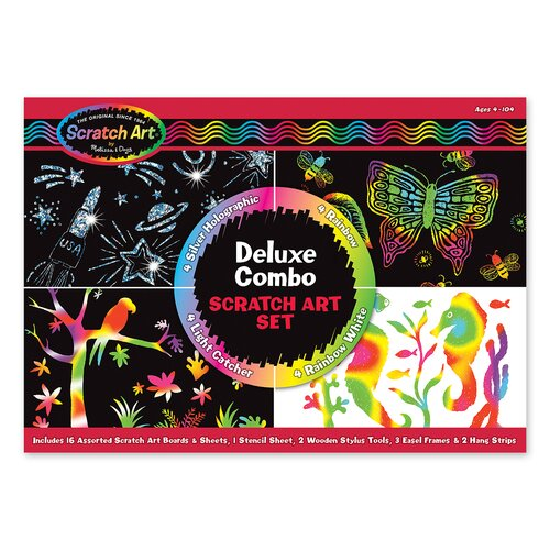 Melissa and Doug Deluxe Combo Scratch Art Set
