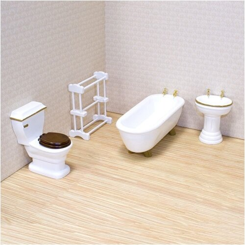 Melissa and Doug Dollhouse Bathroom Furniture