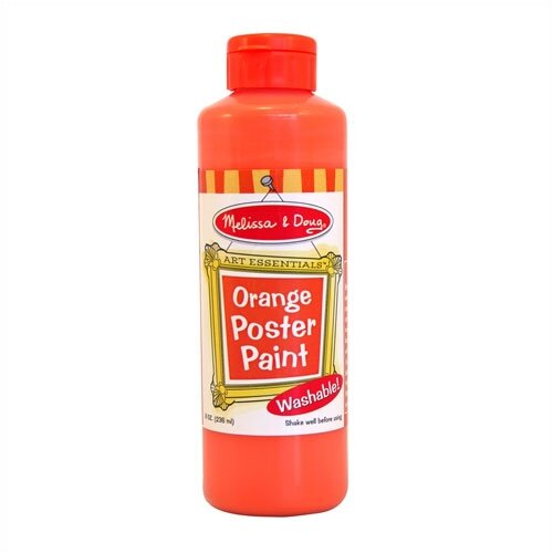Melissa and Doug Orange Poster Paint Bottle