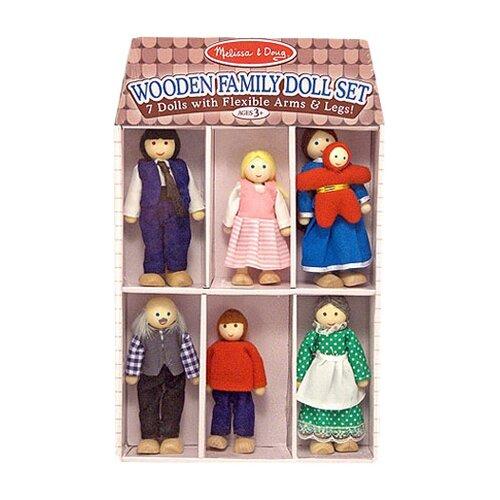 Melissa and Doug Happy Family Doll Set