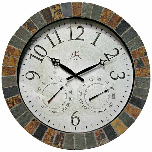"Infinity Instruments 18"" Weather Wall Clock"