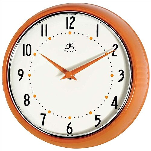 "Infinity Instruments 9.5"" Retro Wall Clock"
