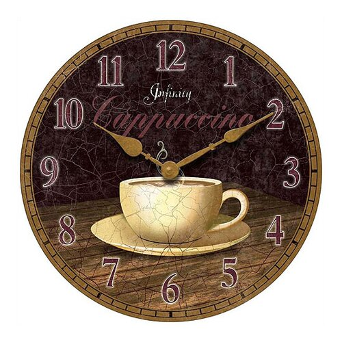 "Infinity Instruments 14"" Dreamy Cappuccino Wall Clock"