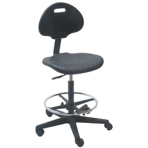 Mid-Back Tall Industrial Office Chair with Adjustable Footring