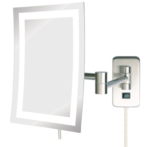 jerdon led lighted wall mount rectangular makeup mirror reviews wayfair. Black Bedroom Furniture Sets. Home Design Ideas